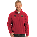 TLF218WB - EMB - 1/4 ZIP FLEECE JACKET - TALL